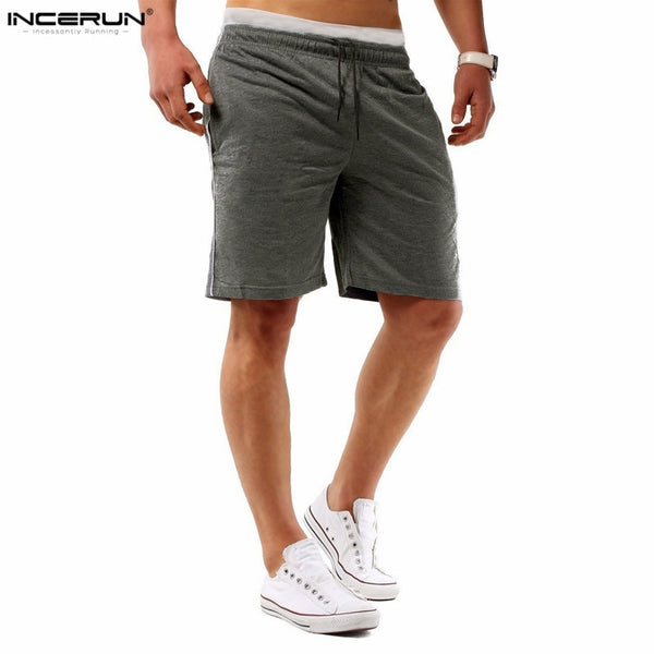 2018 New Summer Mens Masculino Shorts Men's Workout Shorts Bermuda Drawstring Solid Design Plain Men Joggers Casual Beach Shorts