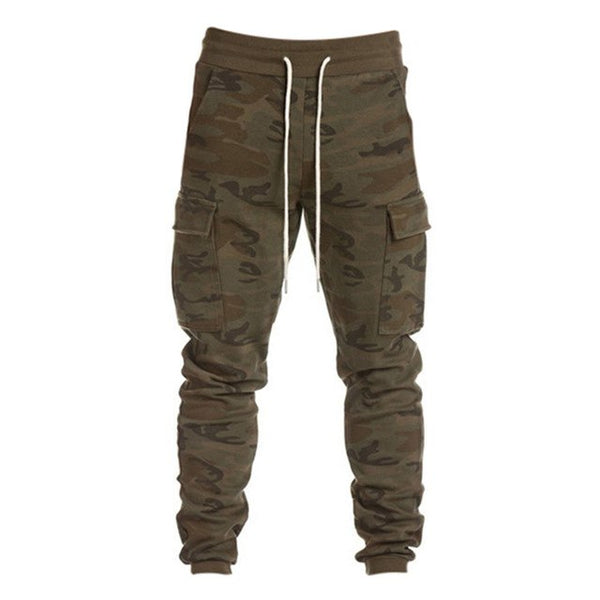 2018 Solid Harem Pants Men Cotton Army Camouflage Military Gyms Sweatpants Big Pockets Fitness Cargo Trousers Joggers