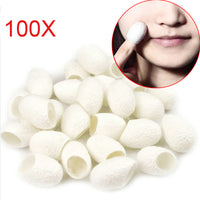100Pcs Organic Natural Silk Cocoons Silkworm Balls Facial Care Scrub Purifying Acne Anti Aging Whitening Best Gift For Women