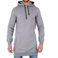 2018 Longline Fleece Hoodies Men Autumn Winter Long Casual Hoody Hooded Sweatshirt Tracksuit Pullover Solid Design Plus Size 3XL