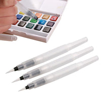 3 Pieces Of Different Size Refillable Pens Color Pencils Ink Pen Ink Soft Watercolor Brush Paint Brush Painting Art Supplies