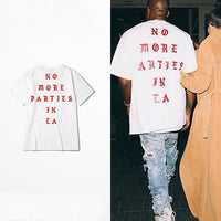 New 2018 Summer Hip Hop Kanye West I feel Like Paul 100% Cotton tshirts NO MORE PARTIES IN LA T SHIRTS Men Women Tee