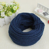 9 Colors Brand New Fashion Solid New 2018 Women Winter Scarves Warm Knitted Ring Scarf Cowl Snood Shawl Wrap Neck Warmer
