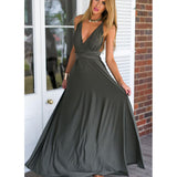 Women Convertible Multi Way Wrap Maxi Dress Backless Sexy Beach Sundress Bridesmaid Party Dresses Bandage Bodycon Long Prom Gown