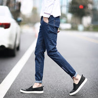 FAVOCENT 2018 spring and Autumn New Arrival Hot Sale Fashion dark blue Straight Leisure & Casual Brand Jeans Men Jeans