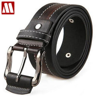 110CM 2018 New Fashion Design buckle Belts Men's Leather Belt PU & Classic Stylish Rivet Belt For Male Drop Shipping PYP007