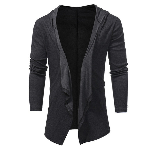Mens Long Cardigan Sweater 2018 Fashion Sueter Hombre Men Jumper Sweaters Coats Casual Slim Fit Long Sleeve Sweater Pull Homme