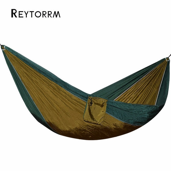 Backpacking Survival Camping Hammock Easy To Set Up Portable Parachute Nylon Hamak For Outdoor Travel Playing Hanging Hamac Bed