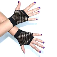 1 Pair Sexy Girls Short Fishnet Gloves Fingerless net Gloves Party Gloves Neon Fishnet Gloves