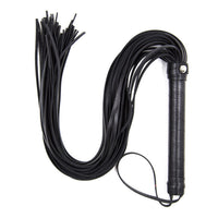 Mayitr 48cm Faux Leather Pimp Whip Racing Riding Crop Party Flogger Queen Black Horse Riding Whip High Quality