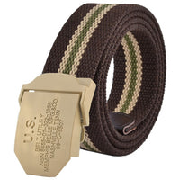 2018 men fashion sports canvas high-quality military belt metal buckle outdoors jeans belts for men Army Green black 110 140cm