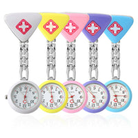 BUMVOR Clip Nurse Doctor Pendant Pocket Quartz Red Cross Brooch Nurses Watch Fob Hanging Medical