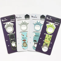 A43 2pcs /Set Kawaii Cute Totoro Magnetic Bookmarks Books Marker of Page Student Stationery School Office Supply Paper Clip