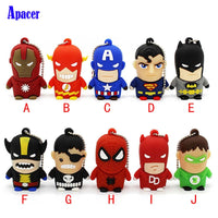 Apacer  Best Gift superhero avenger/Superman/Batman/Spider Man pendrive 4G 8G 16G 32G 64G Usb 2.0 Usb flash drive