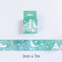 1.5-7cm*7m Gold and Silver cartoon washi tape DIY decoration scrapbooking planner masking tape adhesive tape label sticker