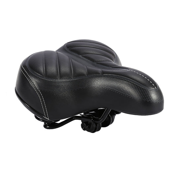 Oversized Comfort Bike Seat Comfortable Replacement Bicycle Saddle For Women and Men - Universal Fit For Exercise And Outdoor Bikes - Wide Soft Padding