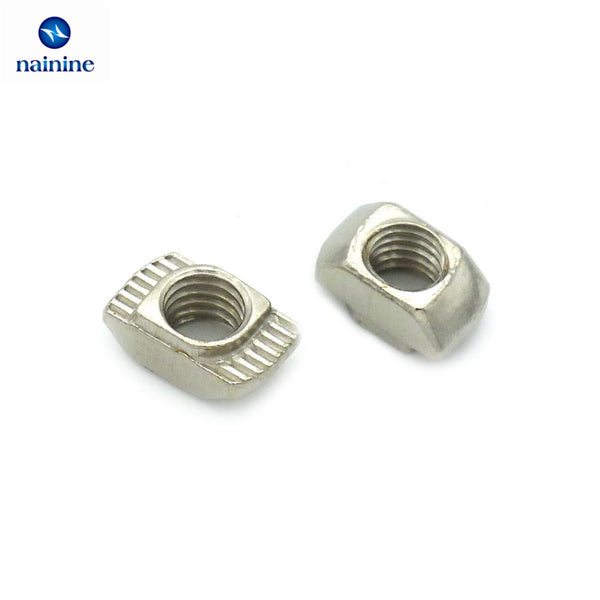 50Pcs M3/M4/M5*10*6 For 20 Series Slot T-nut Sliding T Nut Hammer Drop In Nut Fasten Connector 2020 Aluminum Extrusions HW109
