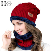 HEE GRAND 2018 Women's Hat Winter Knitted Beanies Unisex Man's Hat Red Christmas Hats For Women Fur Beanie Caps Dropship PMT086