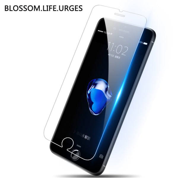 high quality Tempered glass for iphone 6 6s 7 7 plus 5s 4s 8 8plus iphone 7 screen protector Toughened glass for iphone 7 X 6