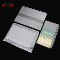 A5 A6 PVC Presentation Binder Folder Zipper Receive Bag Concise Diario Planner&amp Spiral Filing Products Card Holder