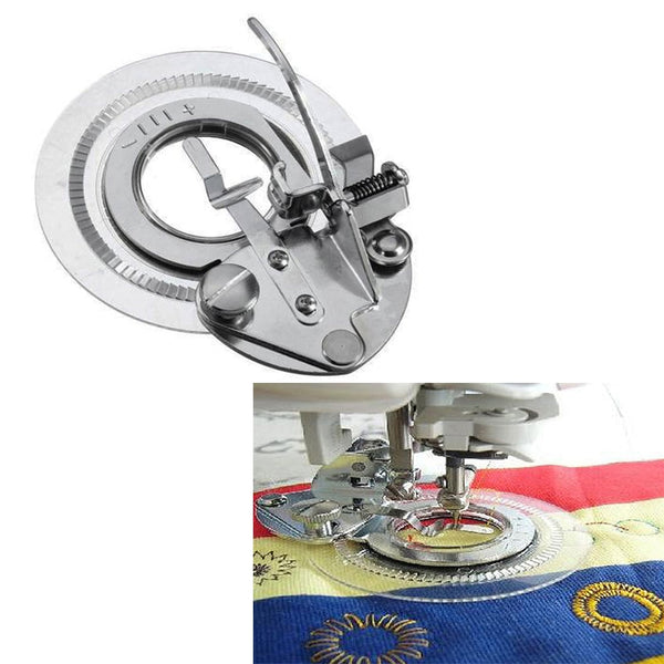 3700L Fancy Flower Round Stitch Presser Foot Flower Embroidery Foot For All Low Shank Singer Janome Brother Sewing Machine