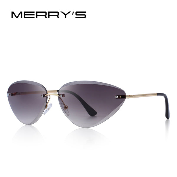 MERRY'S DESIGN Women Rimless Cat Eye Sunglasses Gradient Lens UV400 Protection S'6158