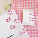 4 pcs/lot Pig Animal Pink Bookmark Paper Clip School Office Supply Escolar Papelaria Gift Stationery