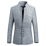 HCXY  Blazer Men 2018 spring New Chinese style  Business Casual Stand Collar Male Blazer Slim Fit Mens Blazer Jacket  Size M-5XL