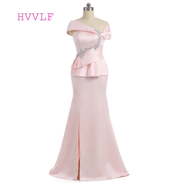 Pink 2018 Mother Of The Bride Dresses Mermaid V-neck Cap Sleeves Formal Wedding Party Dress Groom Mother Dresses For Wedding