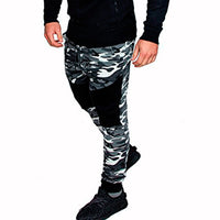 Fashion Camouflage Joggers Trousers Men Elastic Pants Casual Men's Sweatpants Male Track Pants Patchwork Slime Fit Pants Men