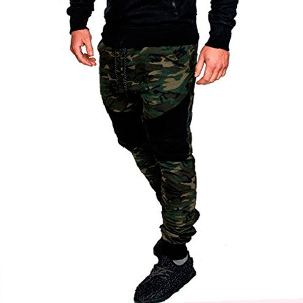 2018 New Camouflage Joggers Pants Men Elastic Pants Casual Men's Sweatpants Male Track Pants Patchwork Fashion Pants Man