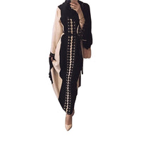 Plus size 2018 Adult lace cotton liene abaya ruffles stitching Musulmane Turkish Abaya Muslim Robes Prayer Worship Service Wj667
