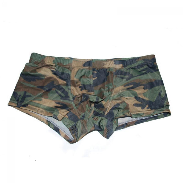 1 Pcs Sexy Fashion Men Camouflage Soft Breathable Underwear Boxer Shorts Strecth Underpants letter Size M~XL Hot