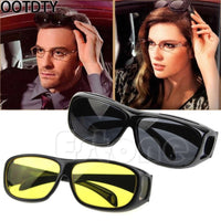 OOTDTY Night Optic HD Night Vision Wrap Around Driving Anti HD Glasses Sun Optics