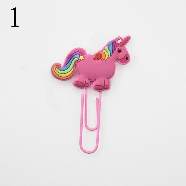 Creative Unicorn Bookmark Cute Kawaii Book Markers Paper Clip For Kids Gift Korean Stationery Student