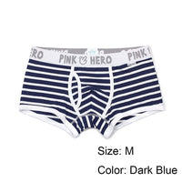 1 Pcs Fashion Men Striped Underpants Boxer Panties Sexy Comfortable U Convex Stretch Cotton Underwear 5 Colors Hot Sale