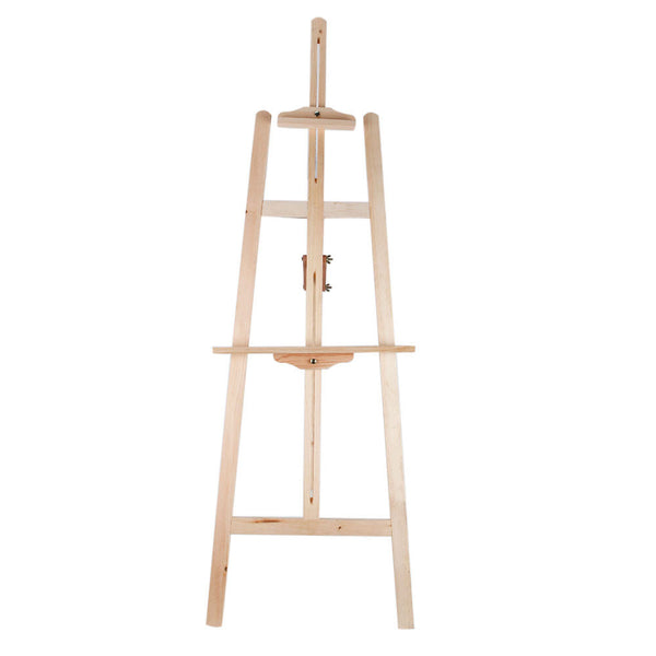 Artist Durable Wooden Easel Stand For Drawing Sketching Painting Larger Canvases