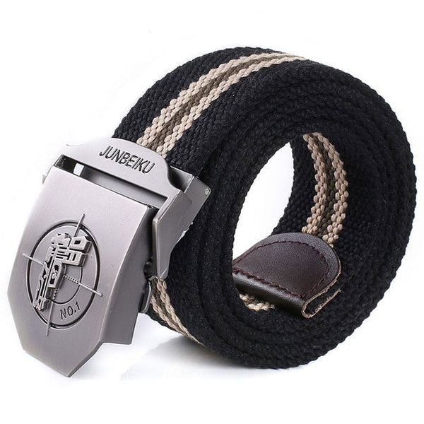 2018 New Arrival Men's Canvas Belt Pistol Buckle Military Belt Army Tactical Belts For Male Top Quality Men Strap Free Shipping