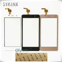 Syrinx + Tape Touch Panel For BQ BQS-5022 BQS 5022 bond Sensor Touch Screen Digitizer Repair Parts Touchscreen Front Glass Lens