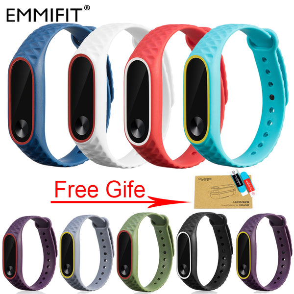 Xiaomi Mi Band 2 Bracelet Strap For Miband 2 Colorful Strap Wristband Replacement Smart Band Accessories For Mi Band 2 Silicone