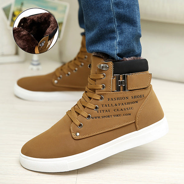 Men shoes 2018 fashion new arrivals warm winter shoes men High quality frosted suede shoes men sneakers