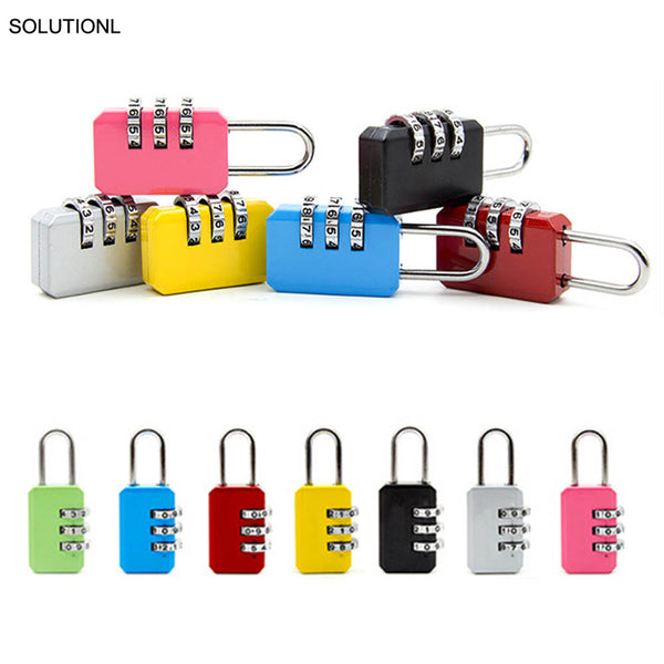New Resettable 3 Dial Digit Combination Suitcase Luggage Password Code Lock Padlock