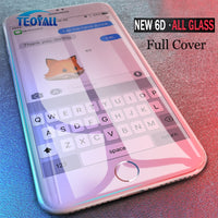 TeoYall Full Cover 6D Edge Tempered Glass For iPhone X 7 8 6 6s Plus Screen Protector For iPhone 10 6 6s 7Plus Film Protection