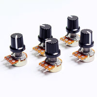 5pcs 10K OHM 3 Terminal Linear Taper Rotary potentiometer B10K 103 for Arduino