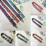 Woman Handbag Strap Accessories Lady Colorful Cotton Boho Chain Adjustable Rivet strap Belt for Shoulder Bag Handbag 2018 New