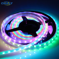 WS2812B LED Strip Individually Addressable RGB Smart Pixel Strip1m/4m/5m Black/White PCB WS2812 IC Waterproof 5V 30/60/144 leds
