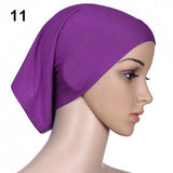 Islamic Muslim Women's Head Scarf Cotton Underscarf Hijab Cover Head Bonnet 6YOB