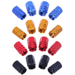 4Pcs Universal Aluminum Car Tyre Air Valve Caps Bicycle Tire Valve Cap Car Wheel Styling Round Alloy caps 16 X 10 X 10mm
