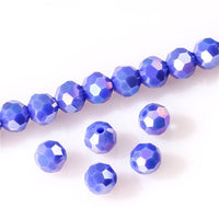 6 8mm Austria Transparent Faceted Ball Crystal Beads for Jewelry Making Needlework Diy Loose Spacer Glass Beads Wholesale Z175