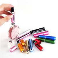 5ml Mini Refillable Empty Atomizer Perfume Bottle Scent Pump Spray Case Travel Parfum Cosmetic Containers Airless Pump